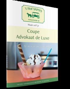 Omslag van het recept voor Coupe Advokaat de Luxe op de wijze van 't Hof VANYS