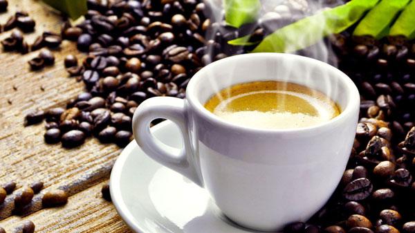 Kop heerlijk dampende koffie